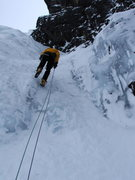 Rock Climbing Photo: Retreating from Six Pack, WI4, IV, Glacier Nationa...