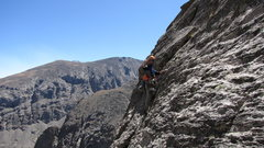 Rock Climbing Photo: Pitch 4. A short slab pitch w/o gear....