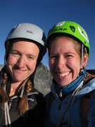 2 ladies on the summit of Clyde Minaret! Don't need a dude to put the rope up there for us!