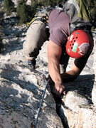 Rock Climbing Photo: JD pulls through the final roof moves capping the ...