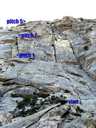 Rock Climbing Photo: 5.10 slab entrance to the Consolation corner