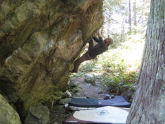 Rock Climbing Photo: Working up