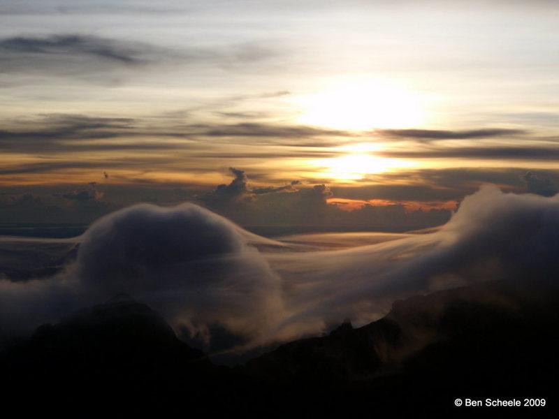 Sunrise on Mount Kinabalu, 5-16-09