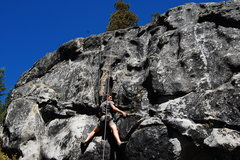Rock Climbing Photo: Crux is Moving to left and up