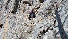 Rock Climbing Photo: Top rope wall, three routes are between the  climb...