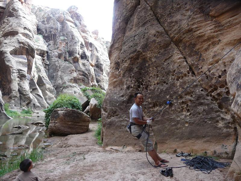 Joe enjoying a great day of climbing.