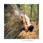 Rock Climbing Photo: Nina Williams cruxing