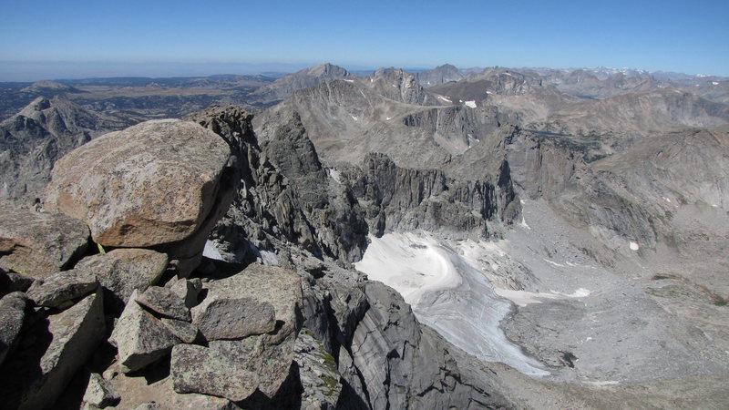 glacier on the north side of lizard head peak. (looking nw)