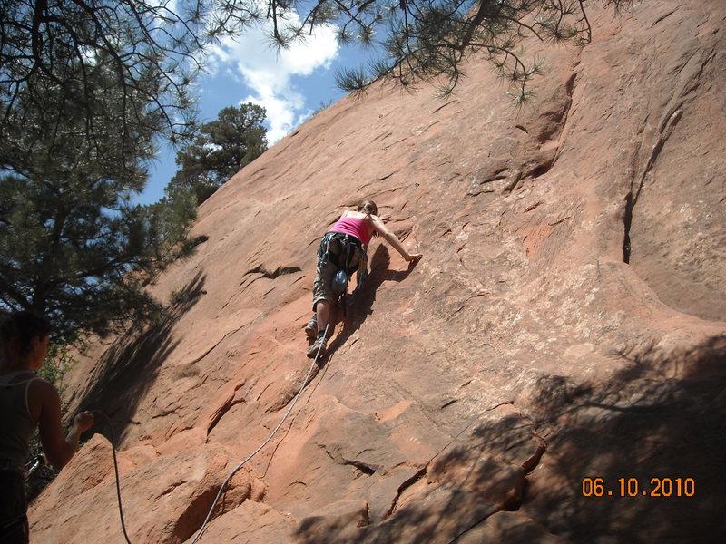 Sammy was climbing