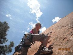 Rock Climbing Photo: struggling