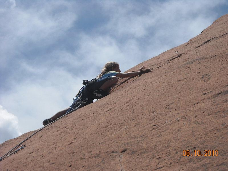 Rock Climbing Photo: Grazzy tried climbing