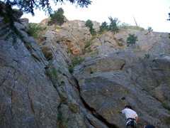 Rock Climbing Photo: Looking up P1 of Buried Treasure.