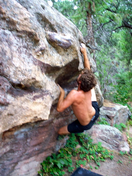 Rock Climbing Photo: Chris working it.