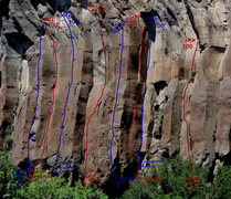 Rock Climbing Photo: A look at the middle of the Left Wall routes from ...