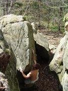 Rock Climbing Photo: Starting Kings Throne, photo Ross Bodine