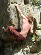 Rock Climbing Photo: Ross Bodine sticking the throw