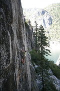Rock Climbing Photo: There is a good rest at the transition from gear p...