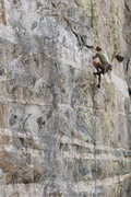 Rock Climbing Photo: Running to the anchors on 'Green Monster' photo by...