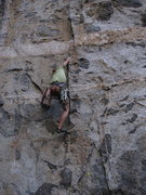 Rock Climbing Photo: Continuing up the through the first tips crack sec...