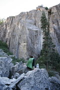 Rock Climbing Photo: Left side. This wall is greatly foreshortened; it ...
