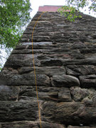 Rock Climbing Photo: Euphoria follows the line up the left of the Trest...