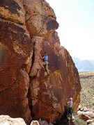 Rock Climbing Photo: Karen on Babylon 5....8.