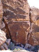 Rock Climbing Photo: Lee; 15 feet up, 50+ to go.