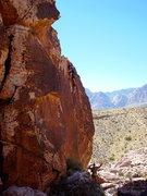 Rock Climbing Photo: At the anchors on Conquistador.