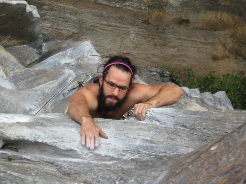 Rock Climbing Photo: Steve searching for the wonderful jug
