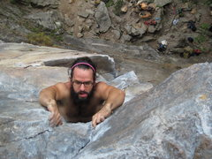 Rock Climbing Photo: Steve finishing up the final corner