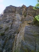 Rock Climbing Photo: Center part of left side of cliff showing:  B. Buy...