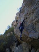 Rock Climbing Photo: Deb near the start.