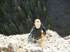 Rock Climbing Photo: The third belay station on Phantom Fury.