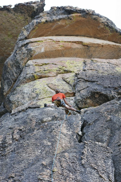 Rock Climbing Photo: Mixed bolts and gear 5.10- on Electric Eagle Dome....