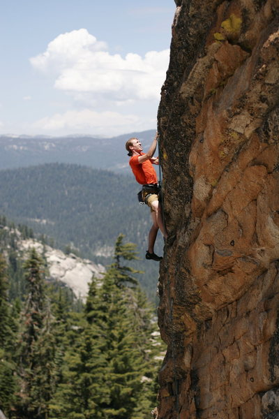 Climbing on the Talon. Worth doing once.<br> photo by S. Giffin