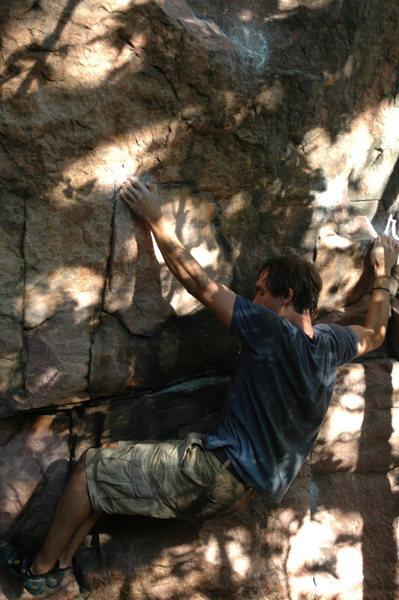 Rock Climbing Photo: Enjoying the movement