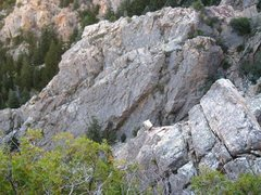 Rock Climbing Photo: Geezer wall and top of High Dive from the Standard...