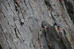 Me leading up the last pitch on Center Thumb