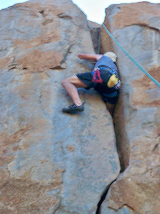 Rock Climbing Photo: Oscar on Orc.  All shaken up but you may feel that...