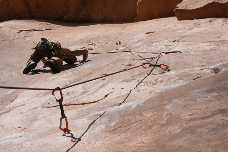 Rock Climbing Photo: Crux of Knapping with the Alien