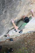 Rock Climbing Photo: Roberto de la Riva and his hulk strength