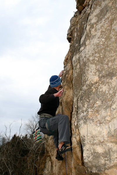 Rock Climbing Photo: Pocket Pulling on Nihilist
