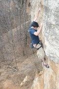 Rock Climbing Photo: Roberto de la Riva pulling the crux on Nihilist