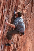 Rock Climbing Photo: James Tortelli climbs Totally Clips