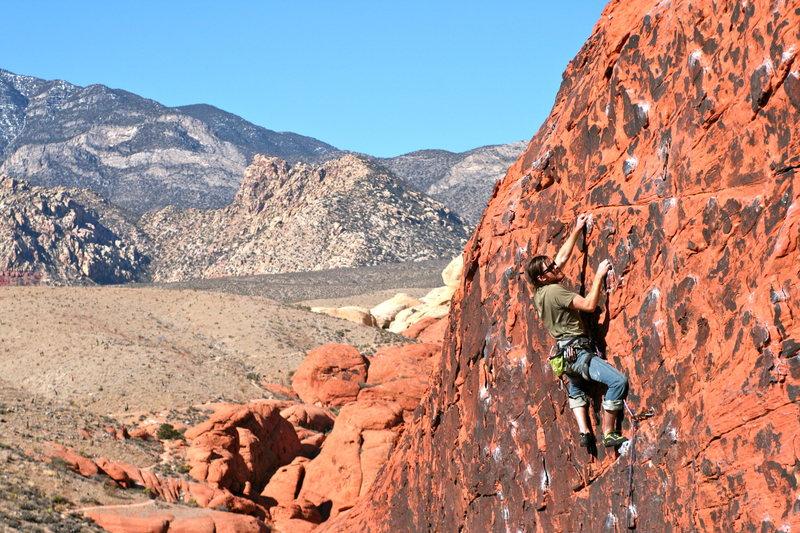 Rock Climbing Photo: Matt Boyer cruising the top