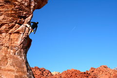 Rock Climbing Photo: Roberto de la Riva shaking out