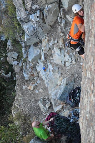 Rock Climbing Photo: Killin' it on glass ocean.