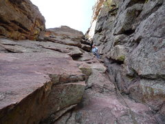 Rock Climbing Photo: Lower part of the gully.