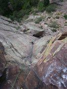 Rock Climbing Photo: Looking down it....