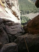 Rock Climbing Photo: Looking down from the top. This thing is fun and s...